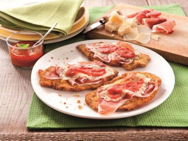 Escalopes de veau panées à la bolognaise (Cotoletta alla bolognese)