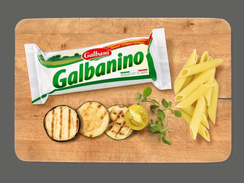 Galbani Galbanino, 270g in situ