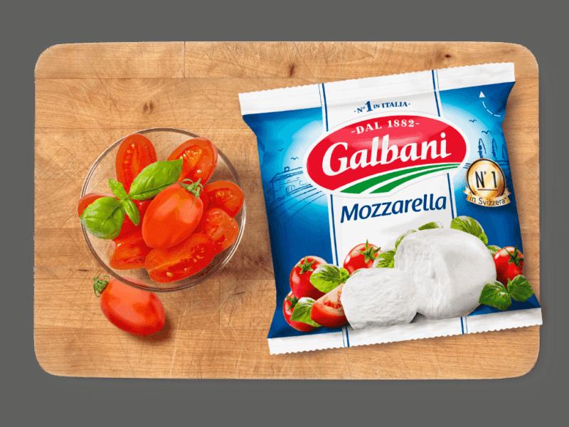 Galbani Mozzarella, 150g in situ