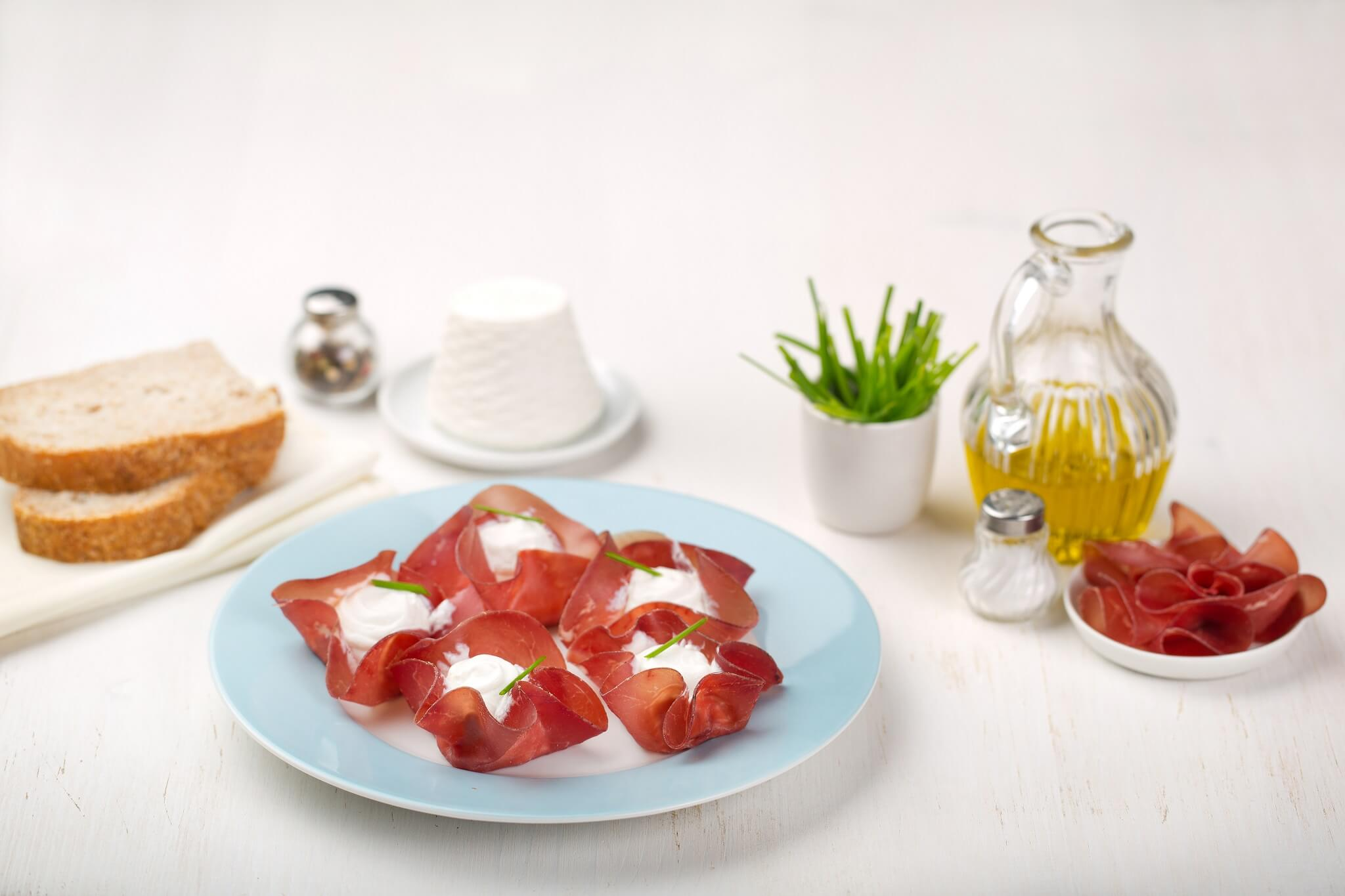 Recette paniers de ricotta et bresaola cuisine rapide - Cuisine rapide et saine ...
