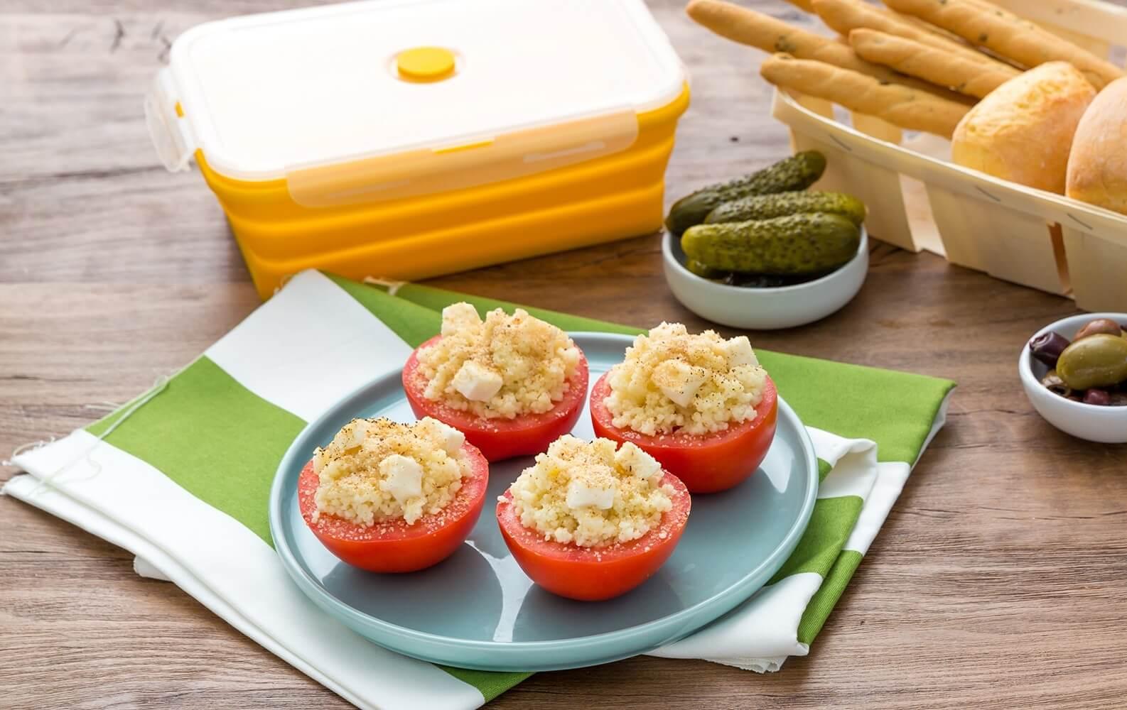 Chefkoch Schnelle Küche | Recette Tomaten Mit Couscous Und Mozzarella Gefullt Einfache