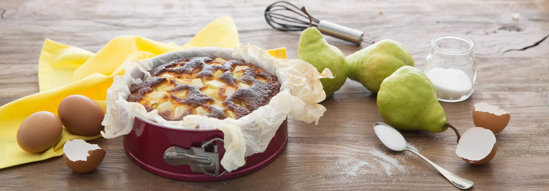 Gâteau aux poires et à la ricotta