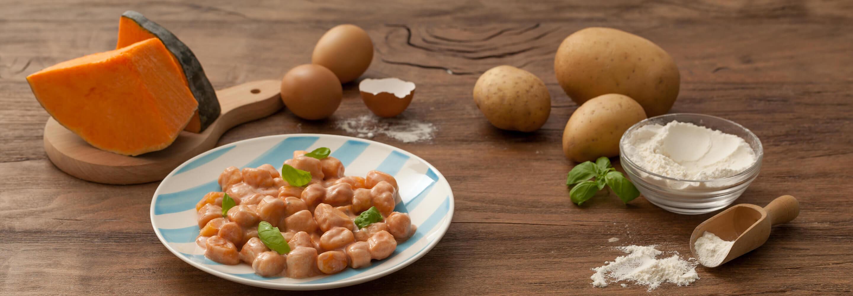 Gnocchi aux pommes de terre et potiron