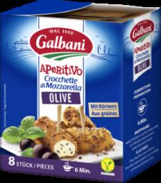 Crocchette di Mozzarella Olive 8x25g Galbani Aperitivo